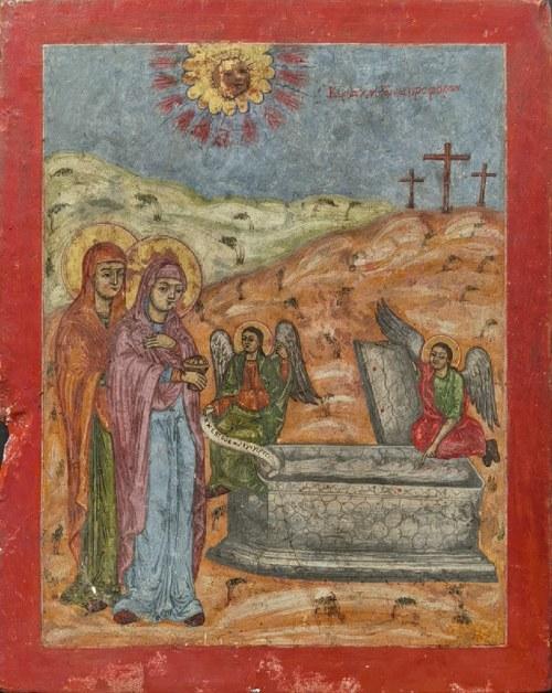 Ikona - Trzy Maryje przy grobie