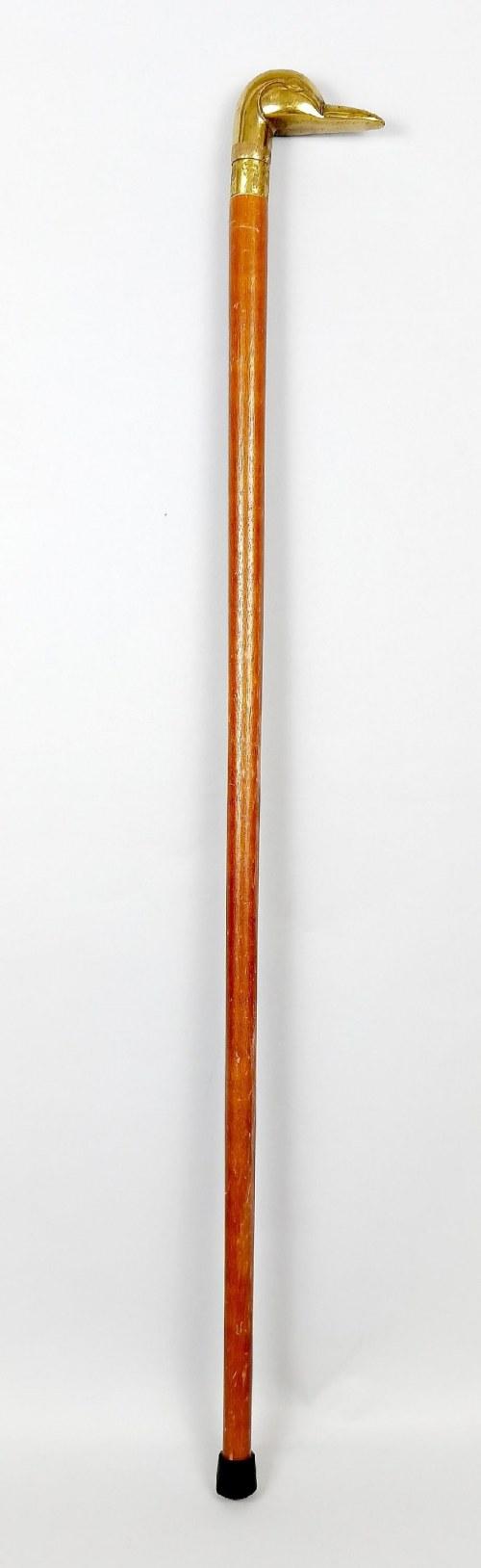 Laska z uchwytem w kształcie głowy kaczki