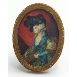 E. HIHLIK, Sarah Siddons wg Thomasa Gainsborough, XX w. - miniatura