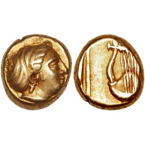 Ancient Greece Lesbos Mytilene EL Hekte 412 - 378 BC (ND)
