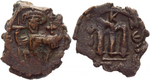 Byzantium AE Follis 641 - 668 AD, Constans II