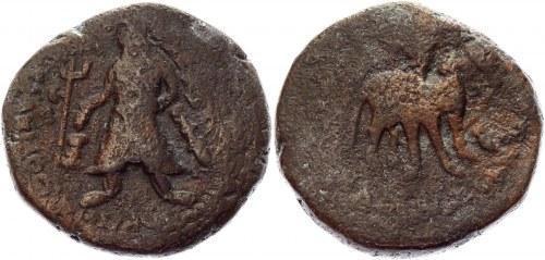 India Kushan Empire AE Tetradrachm 100 - 128 AD, Vima Kadphises