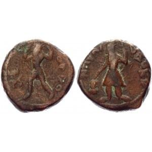 India Kushan Empire AE Tetradrachm 127 - 151 AD, Kanishka I Kapisha Mint