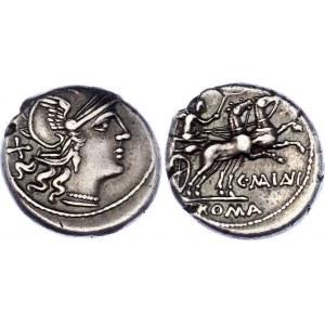 Roman Republic Denarius 153 BC C. Maianius