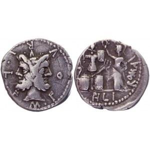 Roman Republic Denarius 120 BC, M. Furius L. f. Philus