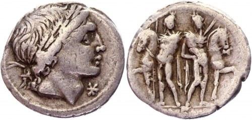 Roman Republic AR Denarius 109 - 108 BC L. Memmius