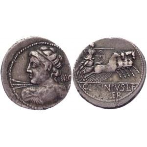 Roman Republic Denarius 84 BC, C Licinius Lf Macer