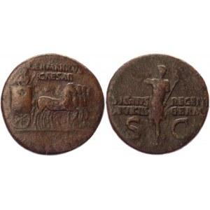 Roman Empire Follis 37 - 41 AD, Caligula