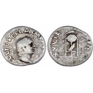 Roman Empire Denarius 69 AD Vitellius