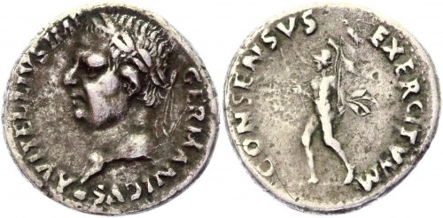 Roman Empire Denarius 69 AD, Vitellius