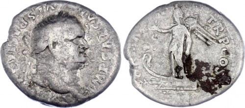 Roman Empire Denarius 69 - 78 (ND) Vespasian