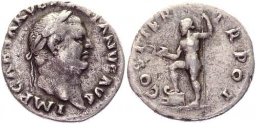 Roman Empire Denarius 70 AD, Vespasian