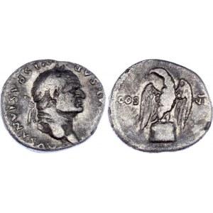 Roman Empire Denarius 76 AD Titus