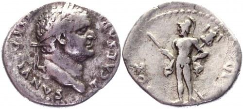 Roman Empire Denarius 78 AD, Vespasian