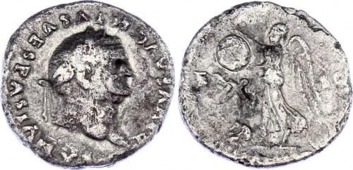 Roman Empire Denarius 79 AD Vespasian