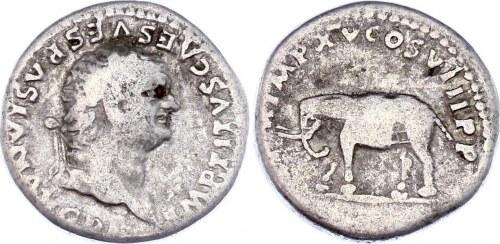 Roman Empire Denarius 79 - 82 (ND) Titus
