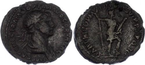 Roman Empire Denarius 98 - 117 AD Сounterfeit