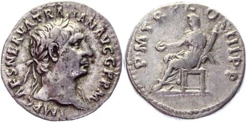 Roman Empire Denarius 100 AD, Trajan