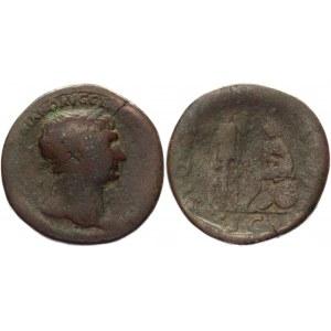 Roman Empire Sestertius 105 - 107 AD, Trajan