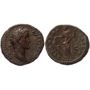Roman Empire AE As 139 AD Antoninus Pius