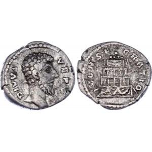 Roman Empire Denarius 161 - 169 (ND) Lucius Verus