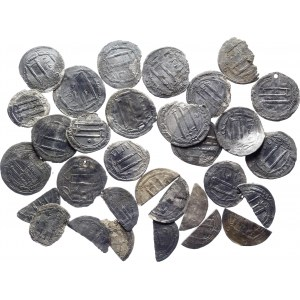 Abbasid Caliphate Lot of 25 Coins of 1 Dirham 750 - 1258 (ND)