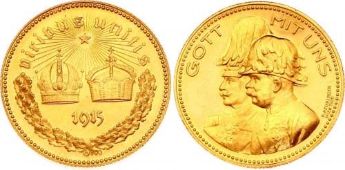 Austria Gott mit Uns Gold Medal 1915