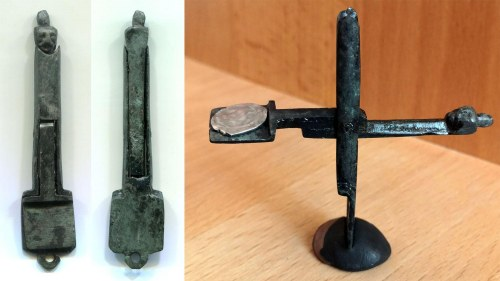Russia Medieval Coin Balance Scales fin XIV c. VERY RARE!