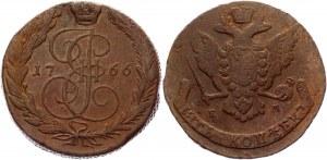 Russia 5 Kopeks 1766 EM