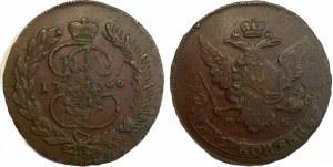 Russia 5 Kopeks 1766 ММ