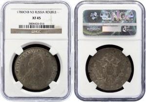 Russia 1 Rouble 1780 СПБ ИЗ NGC XF45