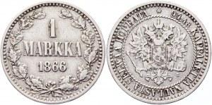 Russia - Finland 1 Markka 1866 S