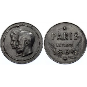 Russia Medal Visit of the Imperial Couple to Paris 1896