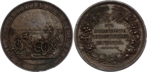 Russia Table Medal For Agricultural Products 1894 - 1902