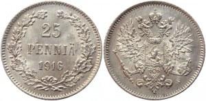 Russia - Finland 25 Pennia 1916 S