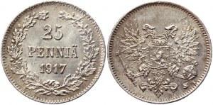 Russia - Finland 25 Pennia 1917 S