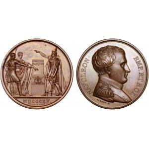 France Napoleon I Hundred Days Medal Adoption of Amendments in Constitution 1815 (MDCCCXV)