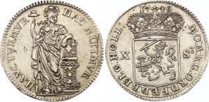 Netherlands Holland 10 Stuivers 1749
