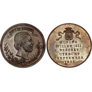 Netherlands Utrecht Willem III Medal 1853
