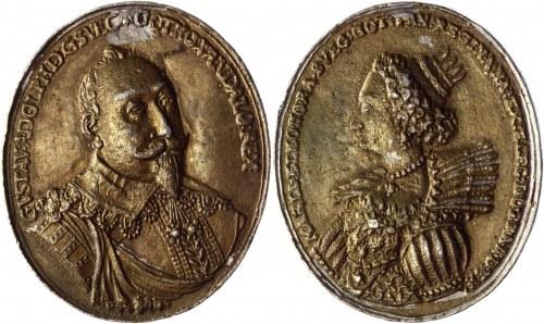 Sweden Gustav II Adolf & Maria Eleonora Medallion 1620 - 1632 (ND)