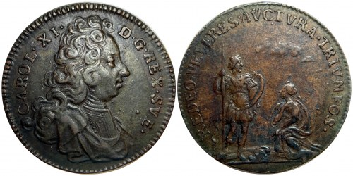 Sweden Karl XI Bronze Medal 1660 - 1697 (ND)