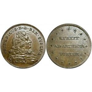 Sweden Frederick I Copper Medal 1720 - 1751 (ND)