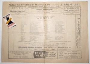 [Wyspiański S.] [program - Teatr Narodow 1932] Teatr Narodowy. Stanisław Wyspiański 1869-1907. Program.