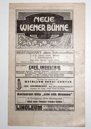 [Wyspiański S.] [program - Neu Wiener Buhne 1915] - Stanisław Wyspiański WESELE