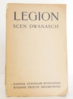 Wyspiański S., LEGION scen dwanaście wyd. 3 (wariant 1, wydawca Gebethner)