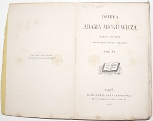 Mickiewicz A., DZIEŁA, artykuły Pielgrzym Polski t.6, 1880