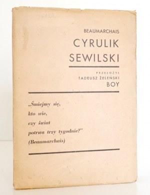 Beaumarchais P., CYRULIK SEWILSKI 1932
