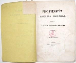 Byron G., PIĘĆ POEMATÓW LORDA BIRONA 1853