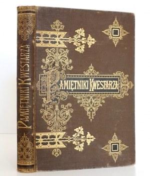 Chodźko I., PAMIĘTNIKI KWESTARZA z 12 rycinami, 1901, oprawa