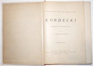 Kraszewski J.I., KORDECKI powieść historyczna 1925, ilustracje